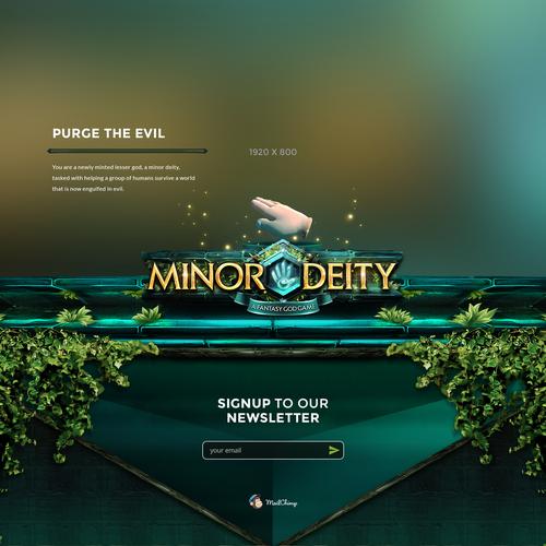 Minor Deity Logo and Webpage design.