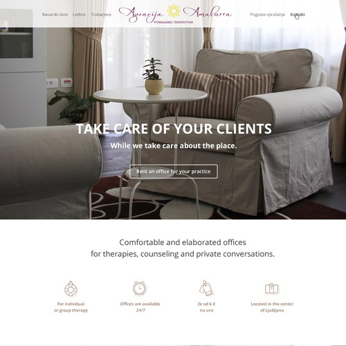 One page website for apartment renting service