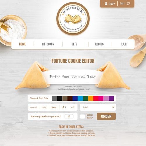Custom Cookie Website