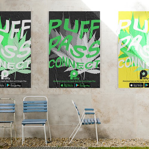 A series of posters for Puffy app.
