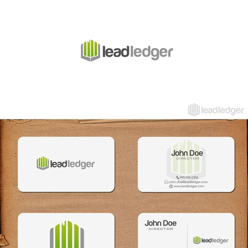 Logo and business cards for leadledger.com