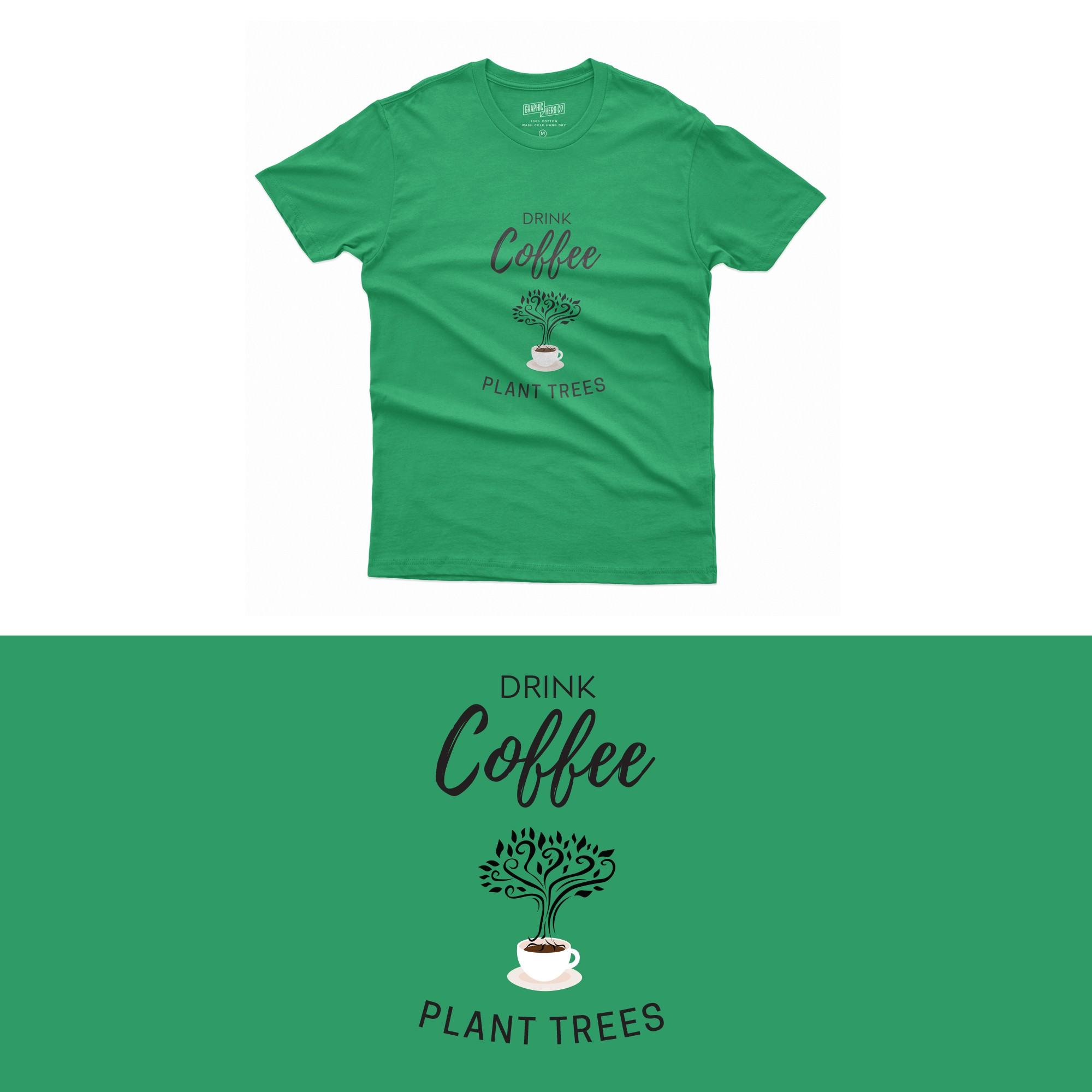 Merch and Apparel series for people who support organic and plastic free products and love coffee