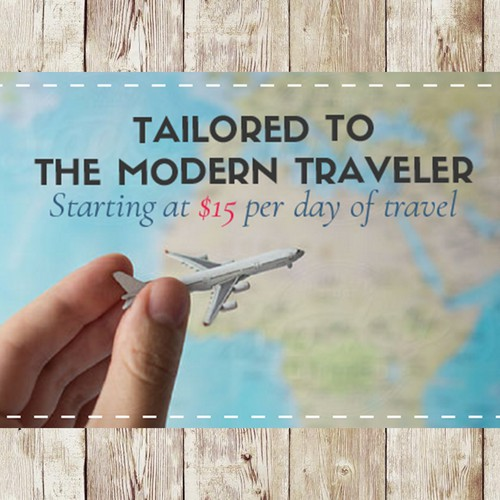 Facebook cover for travelling start-up