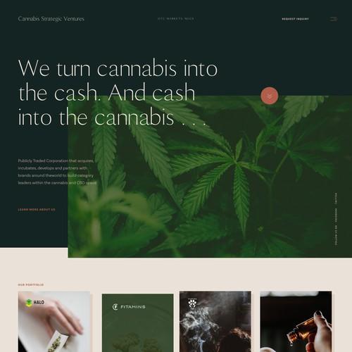 Website for Canabis strategic ventures