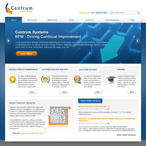 New website design wanted for Centrum Systems