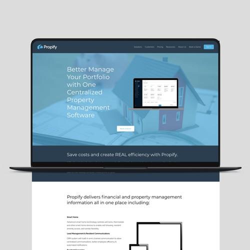 Propify Website Design