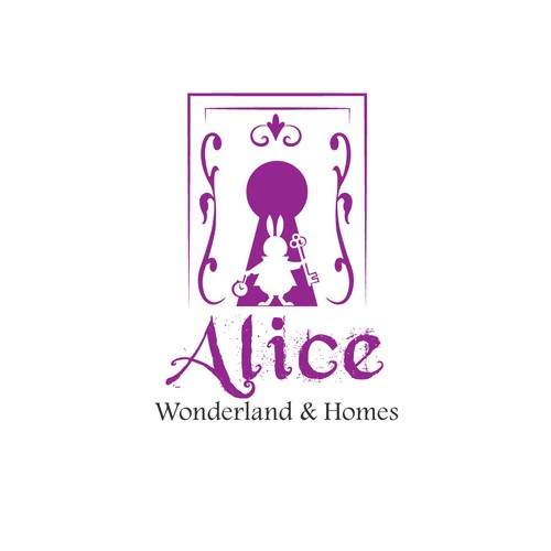 powerful logo for Alice Wonderland & Homes