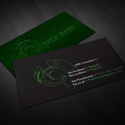 Business card for software developer