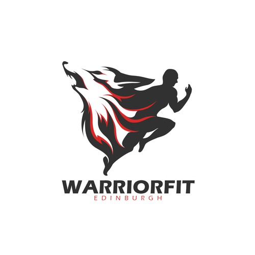 Strong Logo design concept for Warrior Fit Edinburgh