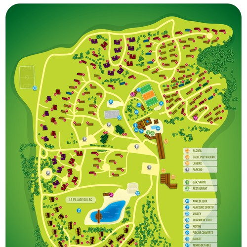 Map for vacation resort