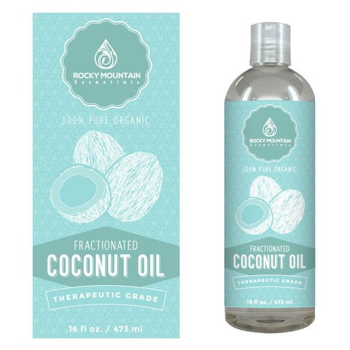 Premium Coconut Massage Oil Label Design - Use our logo to create a beautiful, modern label