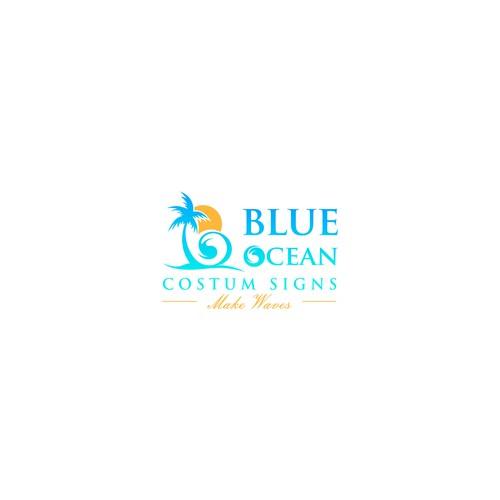 Blue Ocean Costum Signs