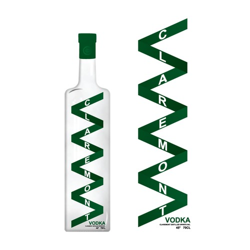 Create the label for Claremont Vodka