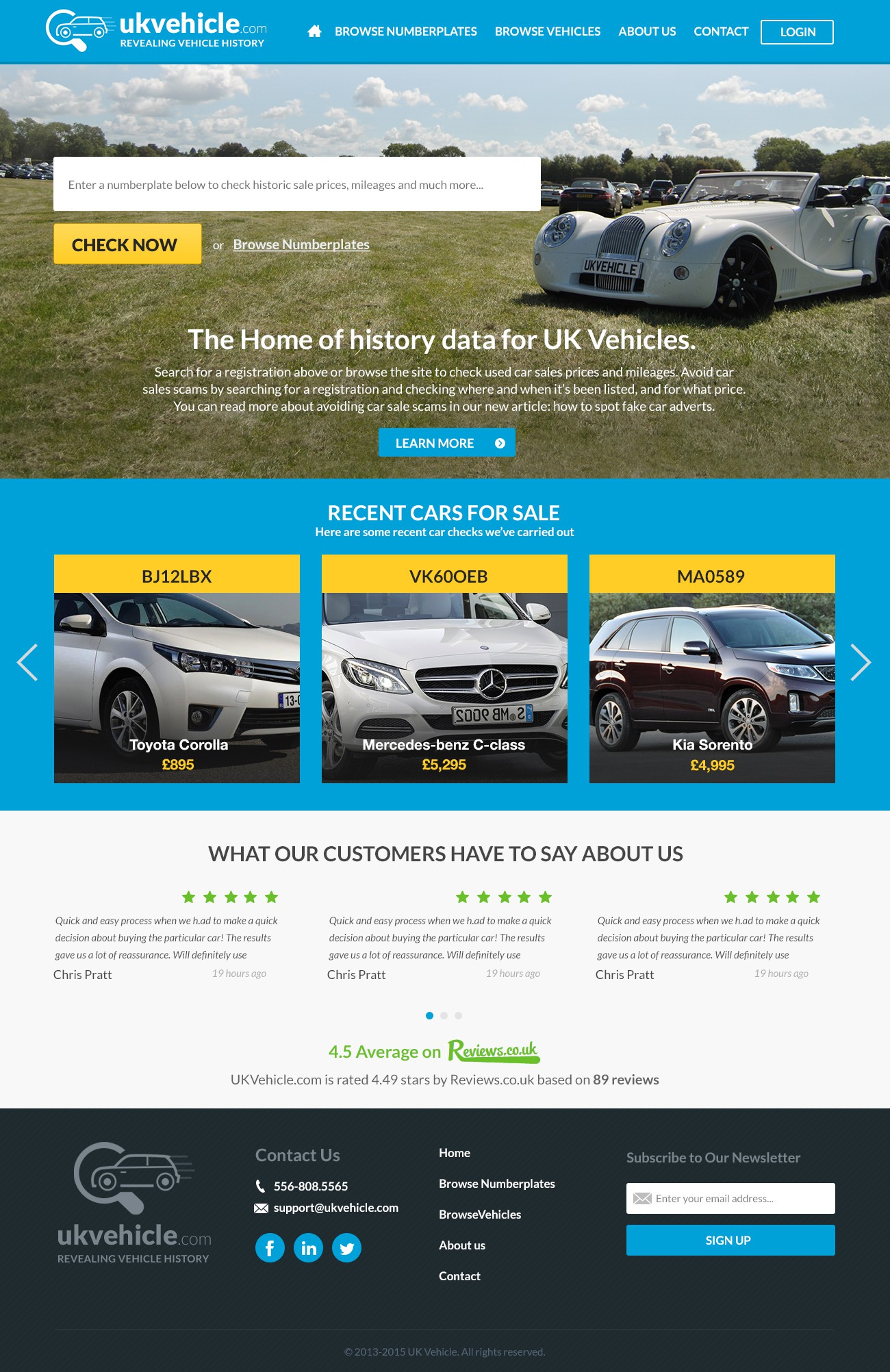 Help us revolutionise car buying! Site designs for innovative car history check.