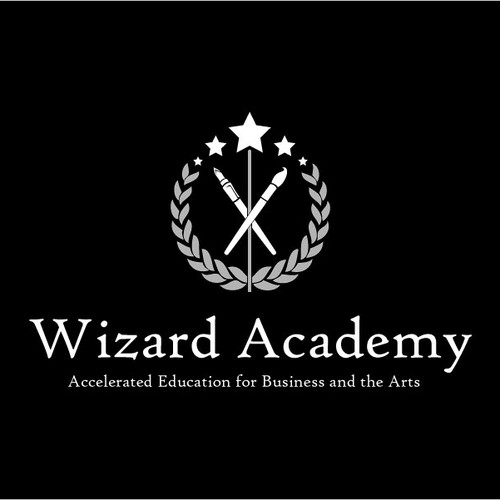 Clever logo for school for business and the arts
