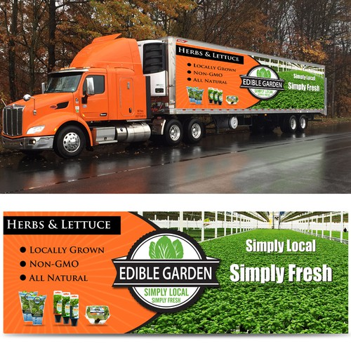 Create Highly Visible Truck Wrap for Edible Garden Tractor Trailers