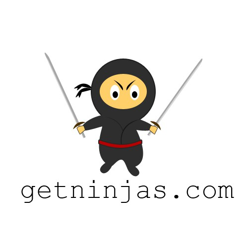 Cartoon-style ninja mascot