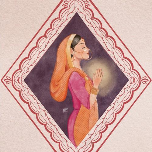 Portrait of Kumaon Woman