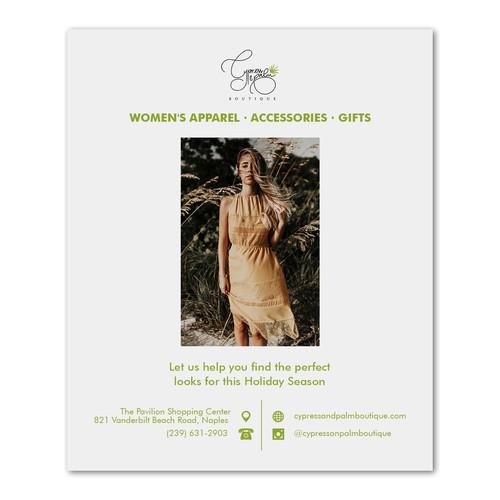 Design for Cypress & Palm Boutique