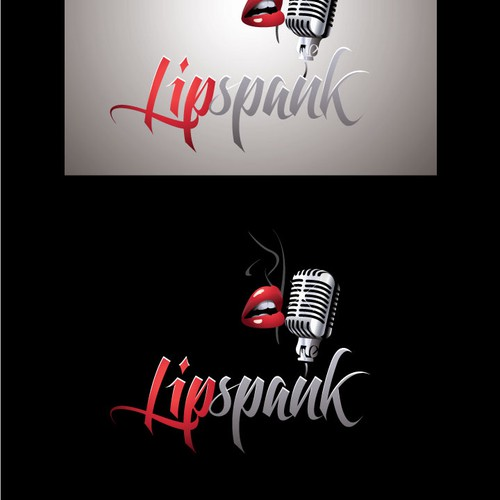 Fun, sexy logo for adult audios at Lipspank