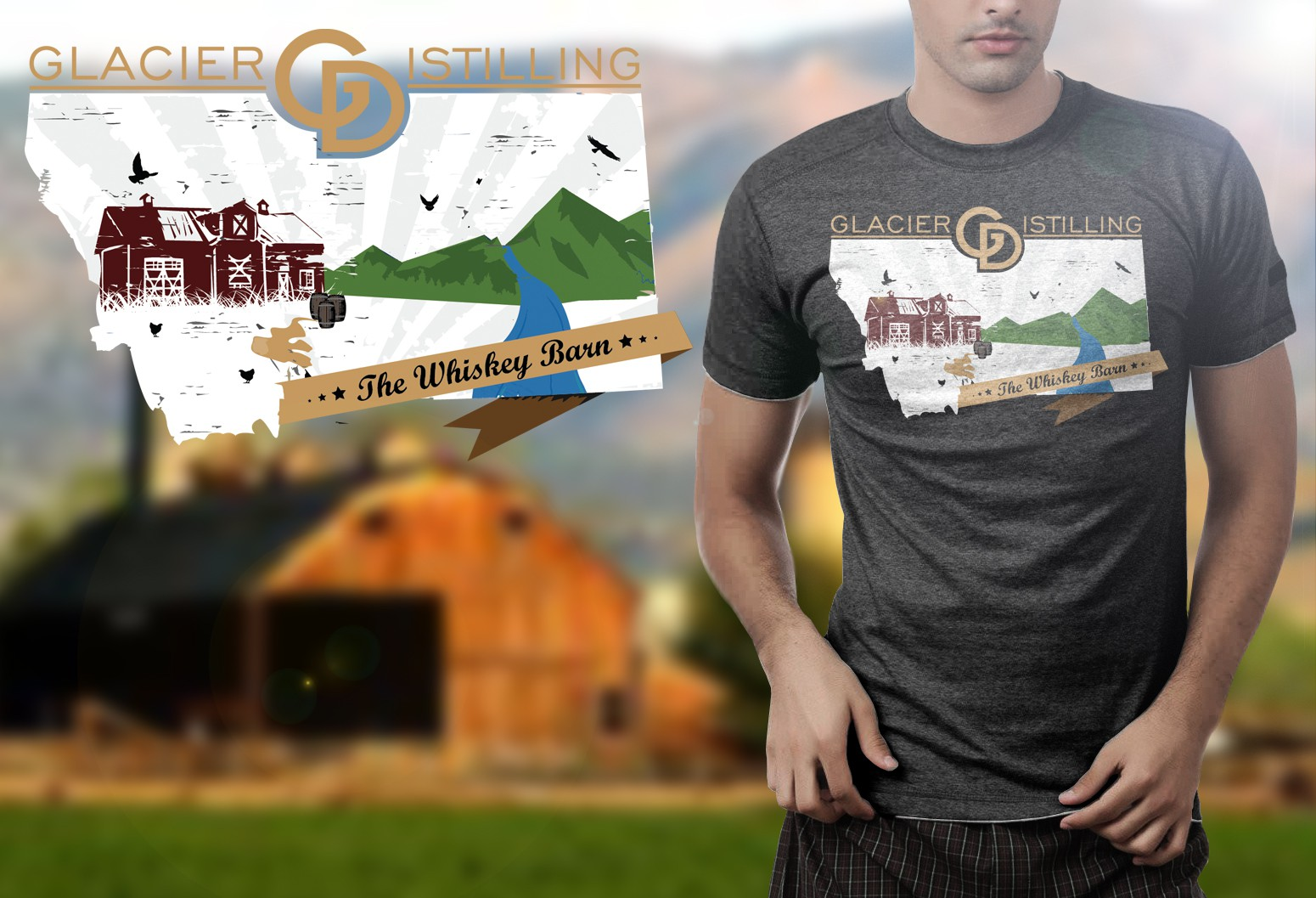 Drink Local - Whiskey Soaked T-Shirt Designs