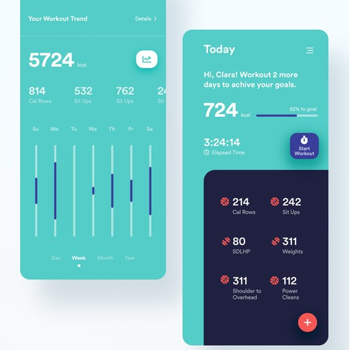 Workout tracking app