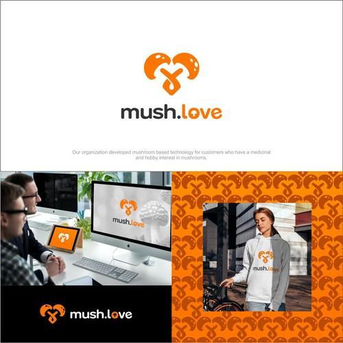 mush.love logo for website, and other branding activities for mushroom lovers