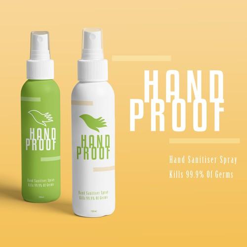 Modern Hand Sanitiser Spray brand