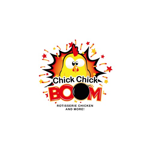 Chick Chick BOOM logo for Food Truck