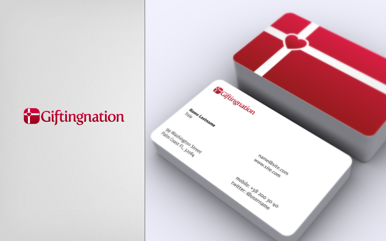 New logo and business card wanted for Giftingnation