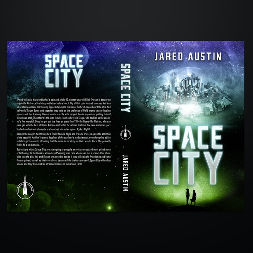 Sci fi cover for YA book