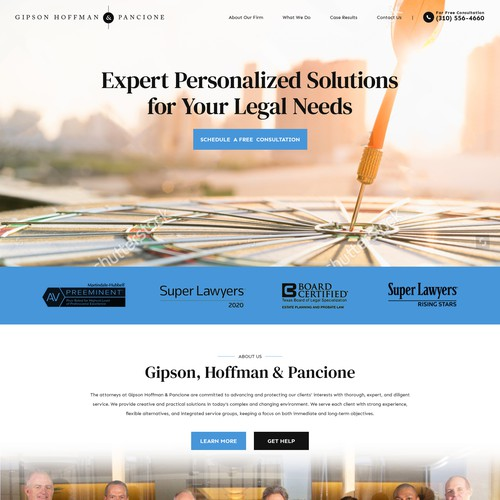 Web design concept for ghplaw.com