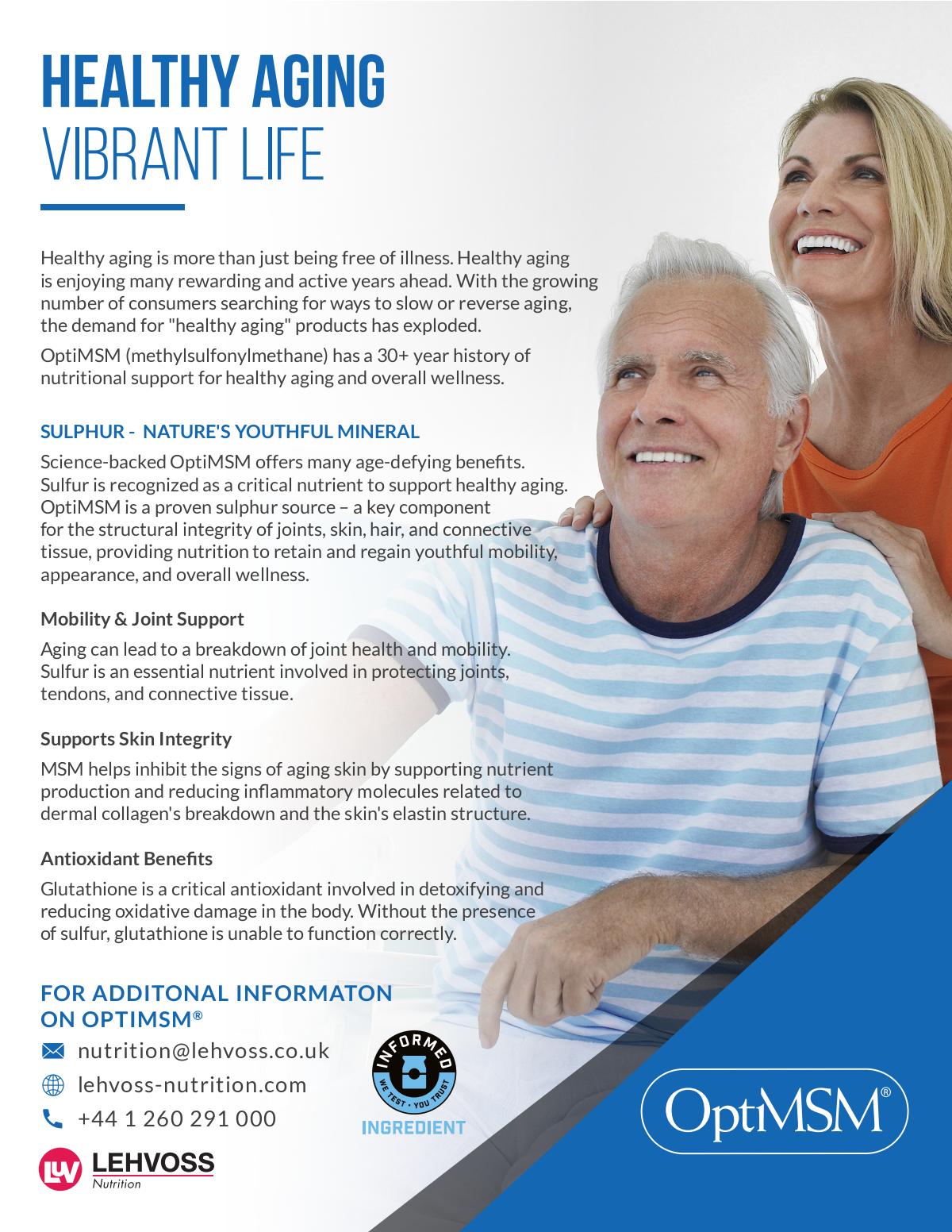 Healthy Aging Sales Sheet