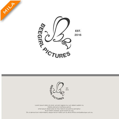 Feminine logo for pictures production