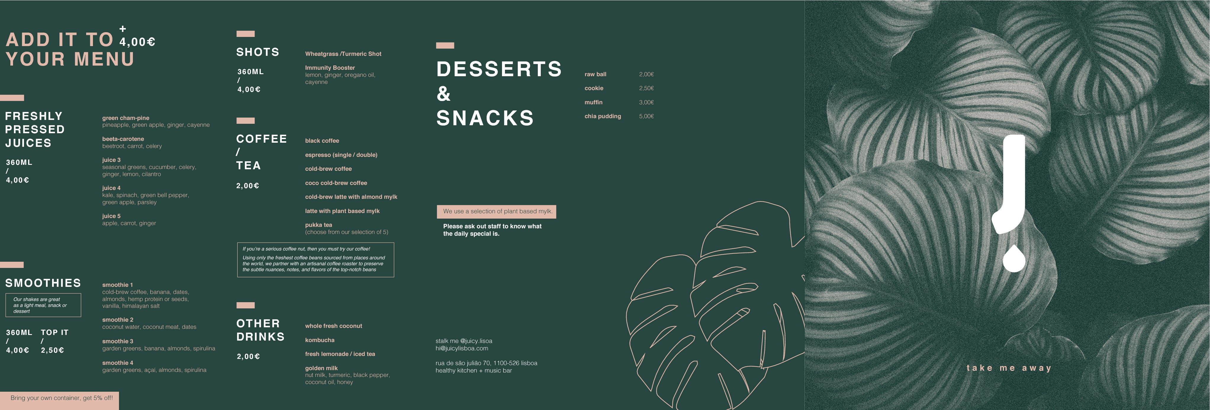 Improve our existing menu design, and save the planet in the same time :)