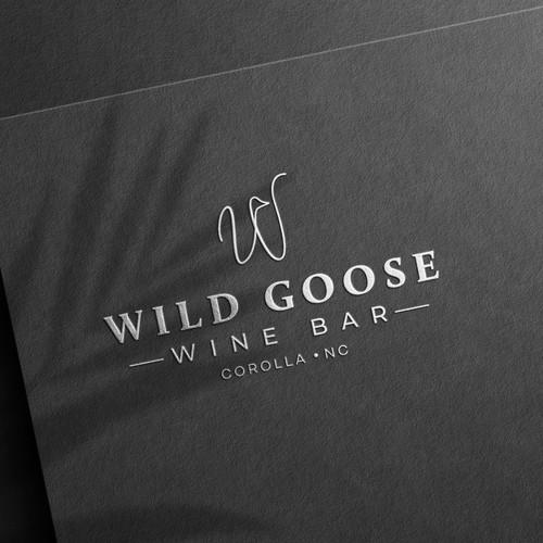 Logo design for Wilde Goose Wine Bar