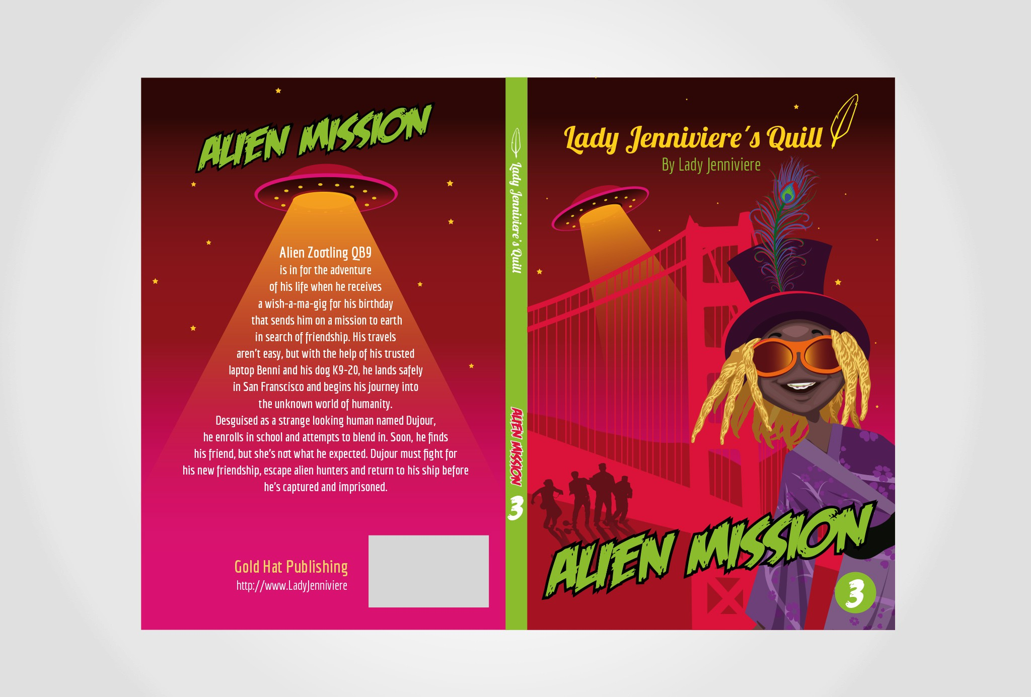 e-book and print cover for juvenile fiction ALIEN MISSION