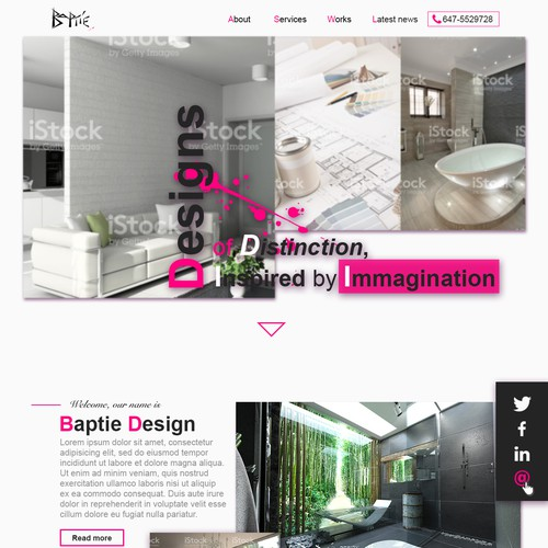 Lively Architectural Brand Website Design