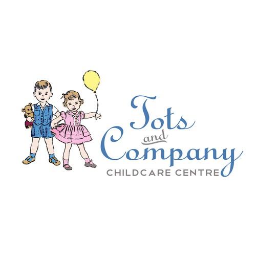 Create a unique vintage logo & business card for childcare centre