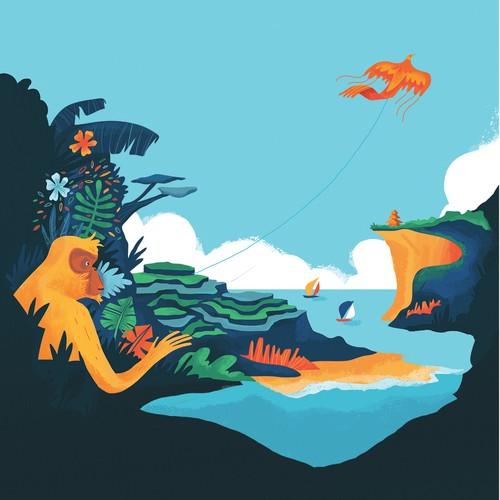 Bali Travel Poster