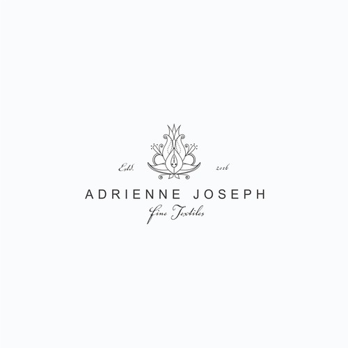 Antiquities and fine textile logo design
