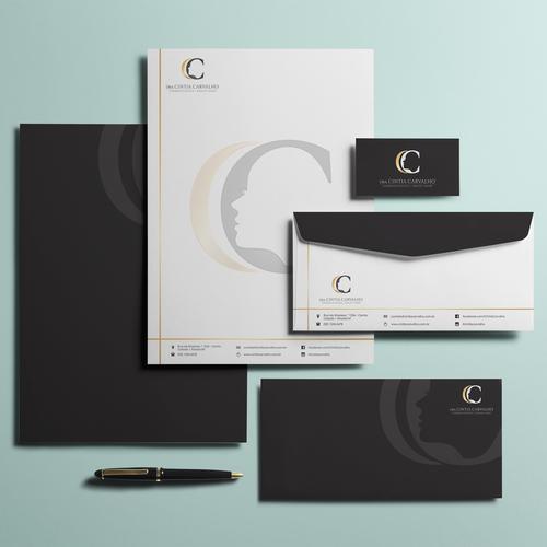 Logo e Papelaria Dr. Cintia Carvalho