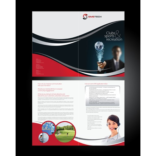 Help SMS Tech with a new brochure design