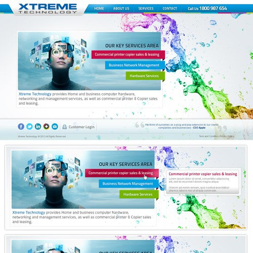 Xtreme Technology web design using Extreme Design