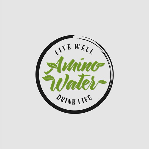 Artistic Logo Concept For Amino Water