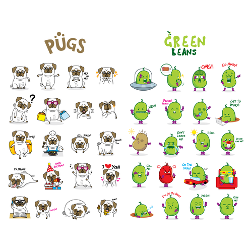 Funny Sticker Packs for Dingaling App!