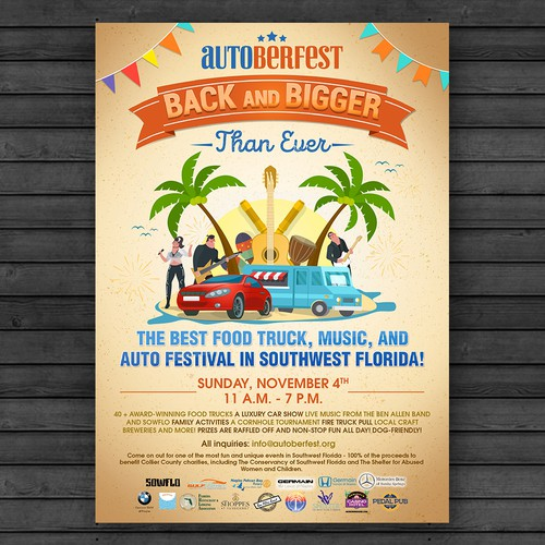 FOOD TRUCK MUSIC AND AUTO FESTIVAL FLYER