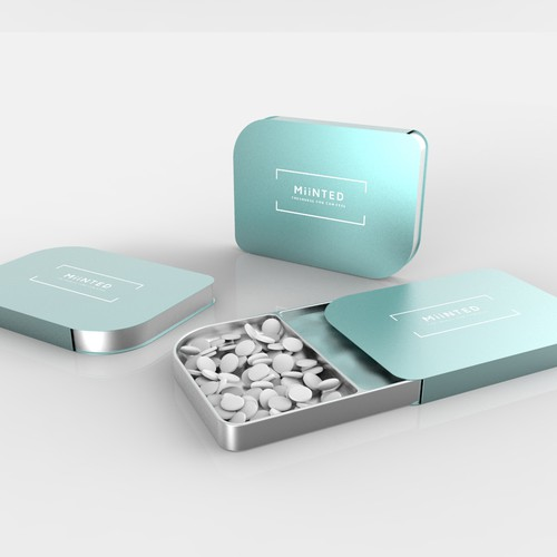 3D rendering for mints packaing