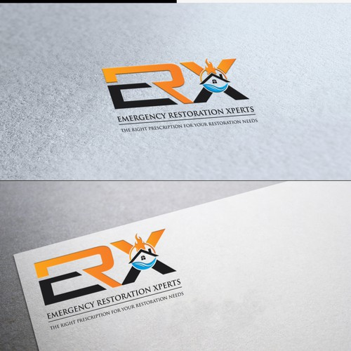 logo for Emergency Restoration Experts (or Xperts)