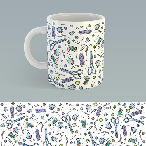 sewing mug design